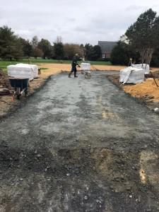 Driveway base material