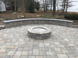 patio, wall, fire pit