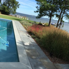st michaels ,md pool ,hardscape and planting